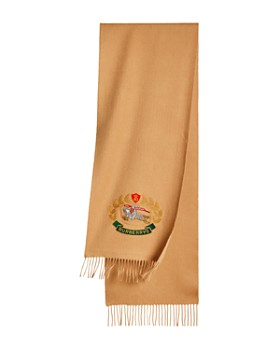 Burberry - Embroidered Crest Cashmere Scarf
