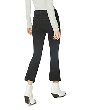 21e206b69c068 ... Sanctuary - Connector Kick Crop Flared Jeans in Noir Black