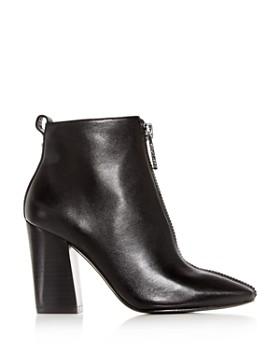 Kendall + Kylie - Women's Reagan Leather Block-Heel Booties