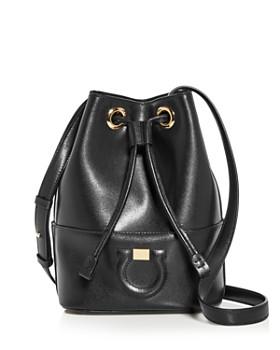 Salvatore Ferragamo - Gancini City Leather Bucket Bag