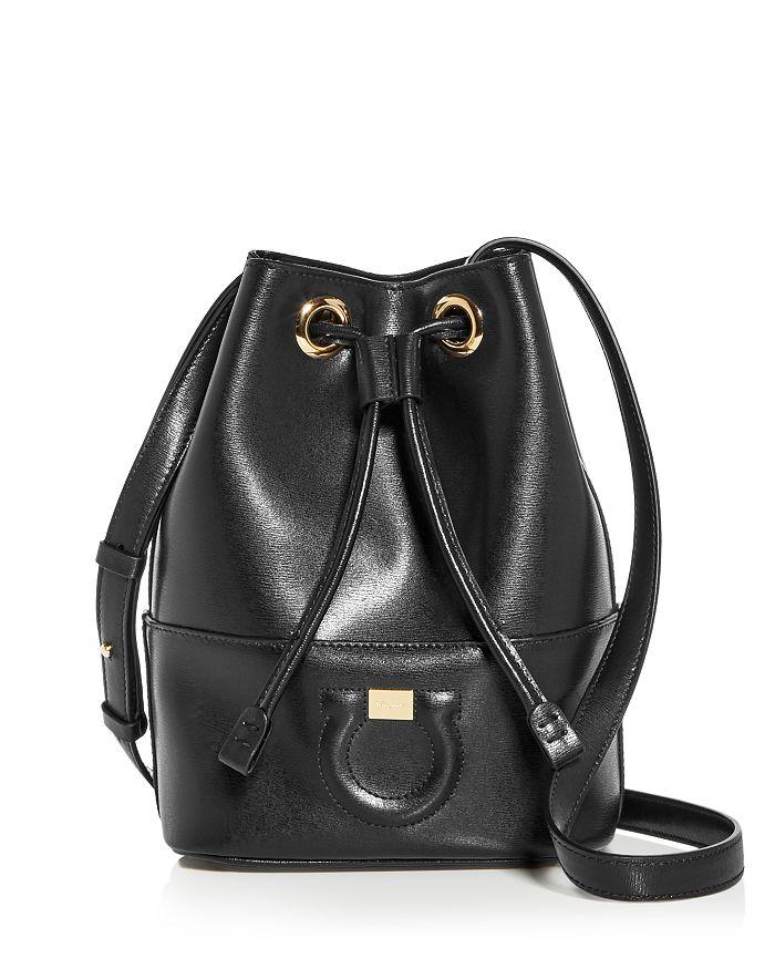 37968c70671 Salvatore Ferragamo Gancini City Leather Bucket Bag   Bloomingdale s