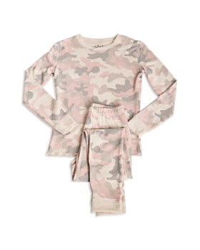 PJ Salvage - Girls' Camo-Print Pajama Shirt & Pants Set - Little Kid