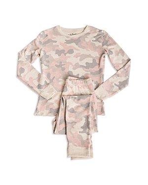 Pj Salvage Girls CamoPrint Pajama Shirt  Pants Set  Little Kid