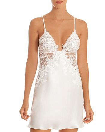 Jonquil - Satin-and-Lace Chemise