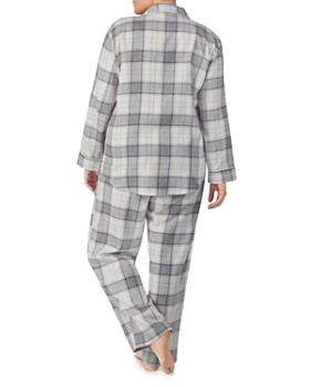 Ralph Lauren - Plus Brushed-Cotton Plaid Pajama Set