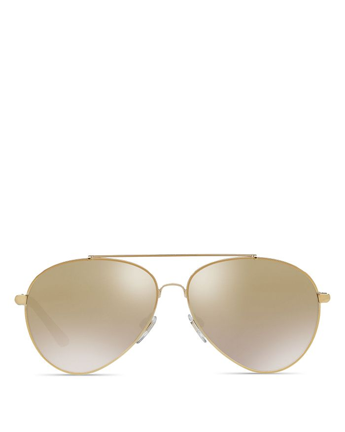 6af8a640044d Burberry Mirrored Check Aviator Sunglasses, 57mm | Bloomingdale's