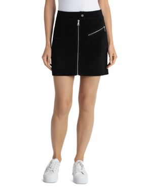 BAGATELLE.NYC Bagatelle. Nyc Suede Mini Skirt in Black