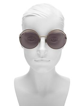 Bottega Veneta - Women's Intrecciato Round Sunglasses, 60mm