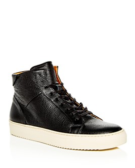 Collegium - Men's Pillar Leather High-Top Sneakers