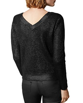 KAREN MILLEN - Foil V-Neck Sweater