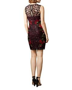 KAREN MILLEN - Leopard Floral Lace Dress