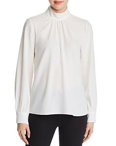 Calvin Klein - Shirred Mock Neck Top