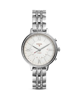 Fossil - Jacqueline Silver-Tone Hybrid Smartwatch, 36mm