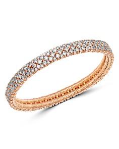 Roberto Demeglio - 18K Rose Gold Cashmere Collection Stretch Bracelet with Champagne Diamonds