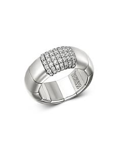 Roberto Demeglio - 18K White Gold Pura Gold Collection Stretch Ring with Diamond Bars