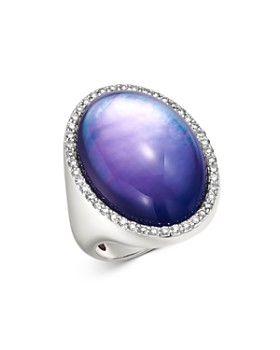 Roberto Coin - 18K White Gold Fantasia Amethyst Cocktail Ring with Diamonds