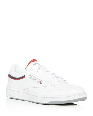 Reebok Men's Classic Club 85 Perforated Leather Lace-Up Sneakers