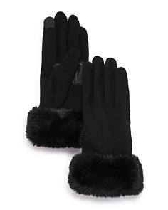 Echo - Faux Fur-Cuff Tech Gloves