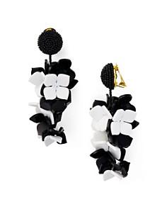 Oscar de la Renta - Falling Flower Clip-On Earrings