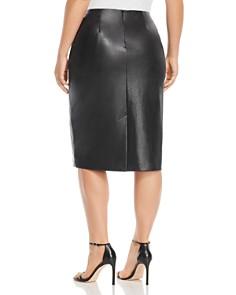Marina Rinaldi - Centrale Faux-Leather Skirt