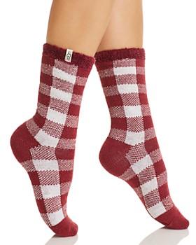 UGG® - Vanna Check Fleece-Lined Socks