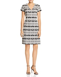 Adrianna Papell - Lace Jacquard Dress