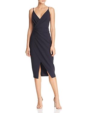 Betsey Johnson Dresses Faux-Wrap Crepe Dress
