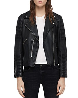 ALLSAINTS - Estella Quilted Leather Biker Jacket