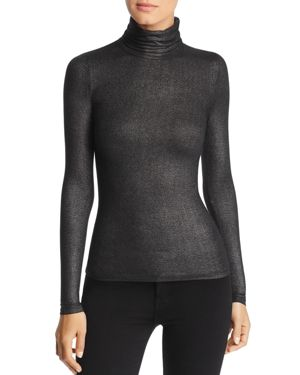 Majestic Filatures Metallic Turtleneck Top