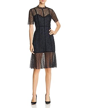 Elie Tahari Kaila Mixed Lace Dress
