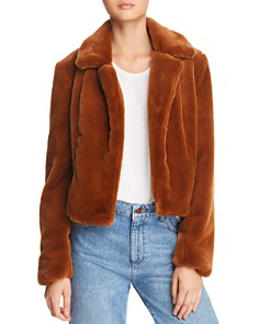BLANKNYC - Cropped Faux-Fur Jacket