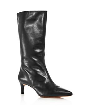 19d054162dbb Loeffler Randall - Women s Naomi Pointed Toe Kitten Heel Boots ...