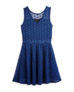 AQUA - Girls' Lace Sheer-Cutout Dress, Big Kid - 100% Exclusive