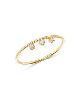 Zoë Chicco - 14K Yellow Gold Diamond Crown Stacking Ring