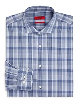 HUGO - Exploded-Plaid Regular Fit Dress Shirt