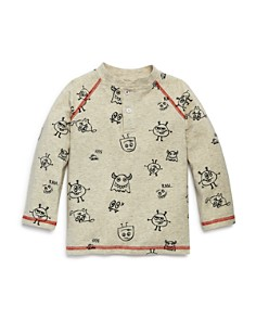 Mini Series - Boys' Monster-Print Henley Shirt, Little Kid - 100% Exclusive
