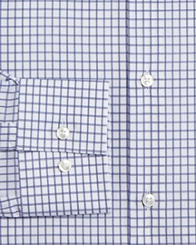 BOSS - Grid-Check Slim Fit Dress Shirt