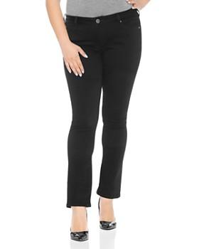 521797bdd1c SLINK Jeans Plus - Straight-Leg Jeans in Solid Black ...
