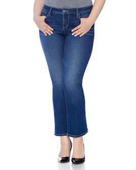SLINK Jeans Plus - Flared Jeans in Olivia