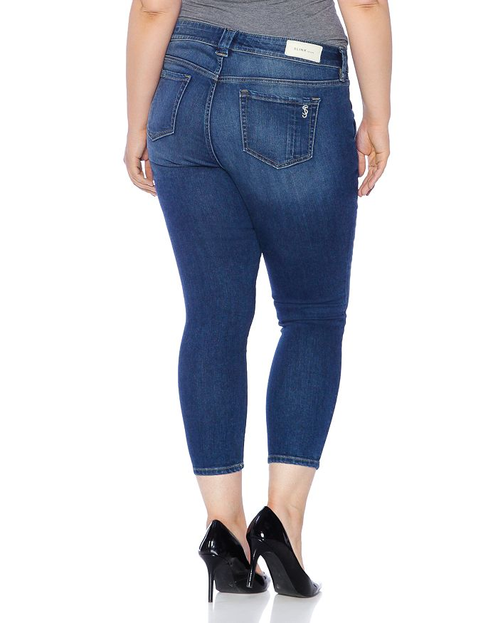 a08321e0ada SLINK Jeans Plus - Seamed Cropped Jeans in Francis