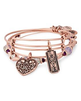 Alex and Ani - Love Charm Bracelets, Set of 3