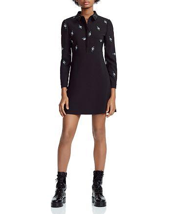7596ffe7f11 Maje - Riwest Embroidered A-Line Shirt Dress