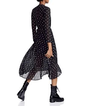 Maje - Rivoli Micro-Floral Embroidered Midi Dress