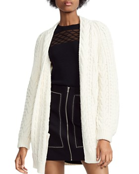 Maje - Mouffle Cable-Knit Cardigan