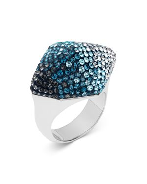 ATELIER SWAROVSKI Moselle Cocktail Ring in Blue/Silver