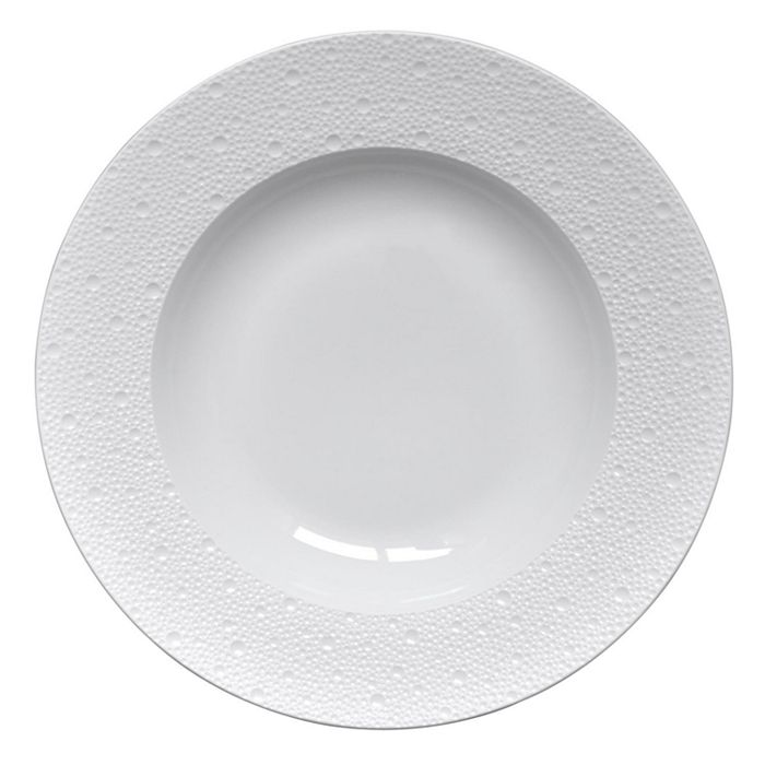 Bernardaud - Ecume White Rim Soup, Large