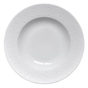 Bernardaud Ecume White Rim Soup, Large