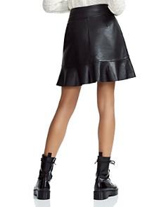 Maje - Janaki Leather Wrap Skirt