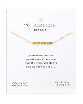 Dogeared The Reminder Bracelet In 14k Gold Plated Sterling Silver