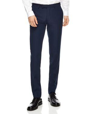 Sandro Blue Virgin Wool Slim Fit Pants
